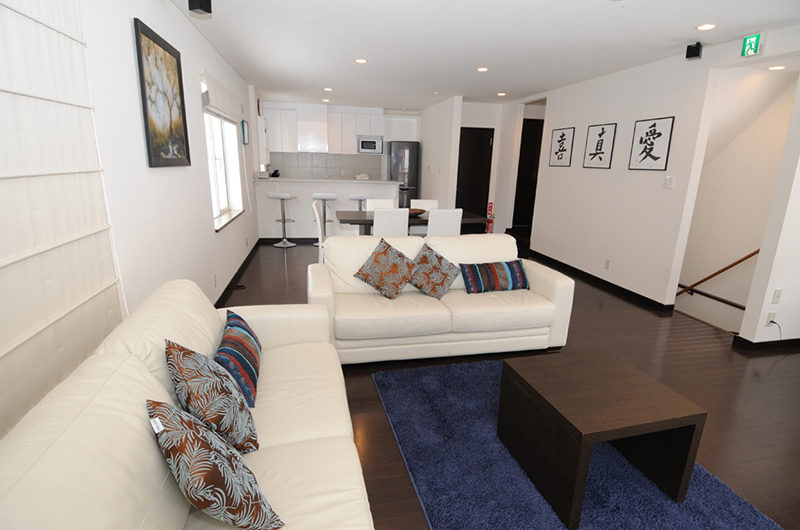 Yukisawa House Living Area with Wooden Floor | Lower Hirafu