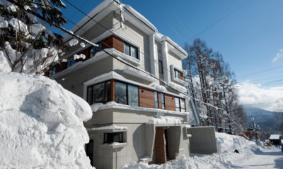 Yutaka Townhouses Outdoor Area with Snow | Middle Hirafu