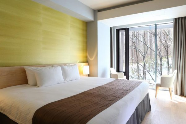 Aya Niseko Two Bedroom Bedroom with Seating Area | Upper Hirafu