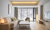 Aya Niseko Two Bedroom Lounge Area with View | Upper Hirafu