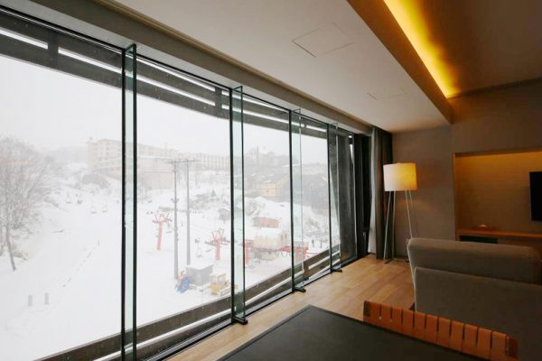 Aya Niseko Three Bedroom Outdoor View from Living Area | Upper Hirafu
