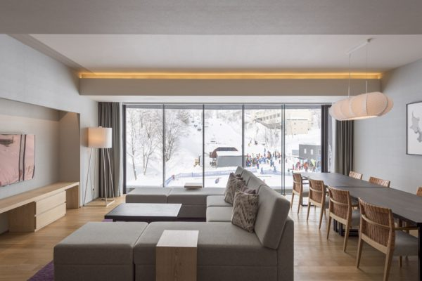 Aya Niseko Three Bedroom Living Room with TV | Upper Hirafu