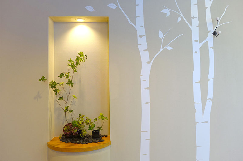 Ebina Chalet and Lodge Wall with Plants | Moiwa