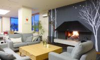 Ebina Chalet and Lodge Living Area near Fireplace | Moiwa