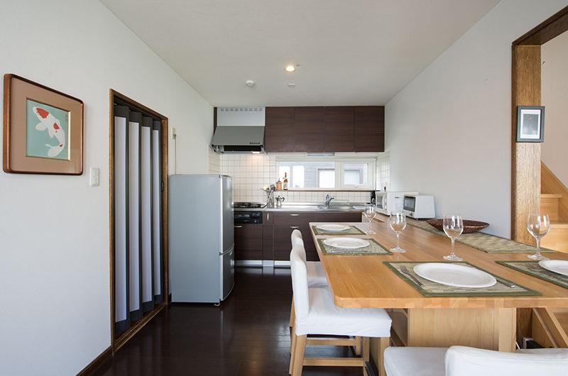 Kuma Cabin Dining Area with Wooden Floor | Lower Hirafu