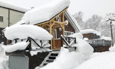 Kuma Cabin Exterior with Snow | Lower Hirafu