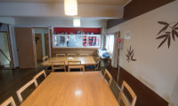 Lodge Bamboo B&B Dining Area with Wooden Floor | Middle Hirafu