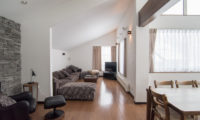 Shungyo Living Area with TV | East Hirafu