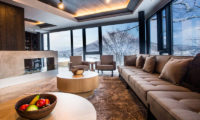 Haven Niseko Penthouse Living Area with Mountain View | Middle Hirafu
