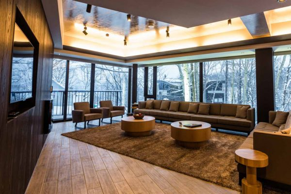 Haven Niseko Penthouse Living Area with TV | Middle Hirafu