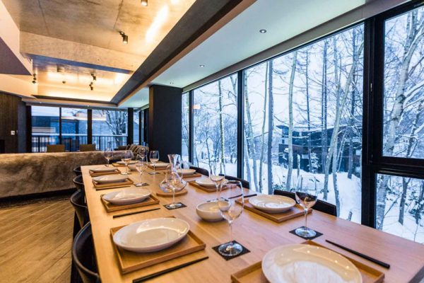 Haven Niseko Penthouse Kitchen with Crockery | Middle Hirafu