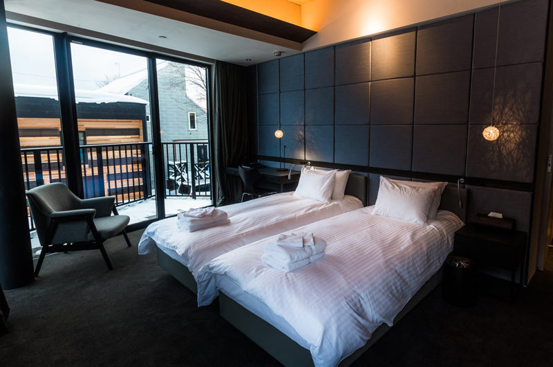 Haven Niseko Twin Bedroom and Balcony | Middle Hirafu