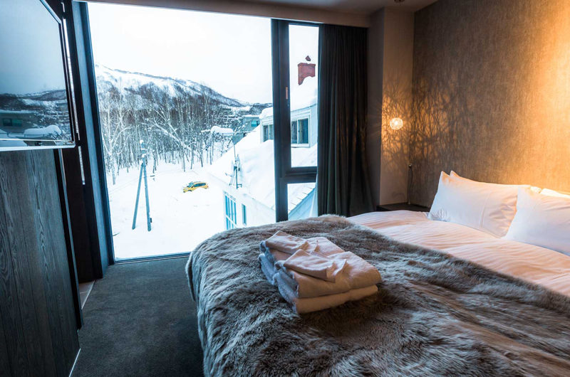 Haven Niseko Bedroom with Outdoor View | Middle Hirafu