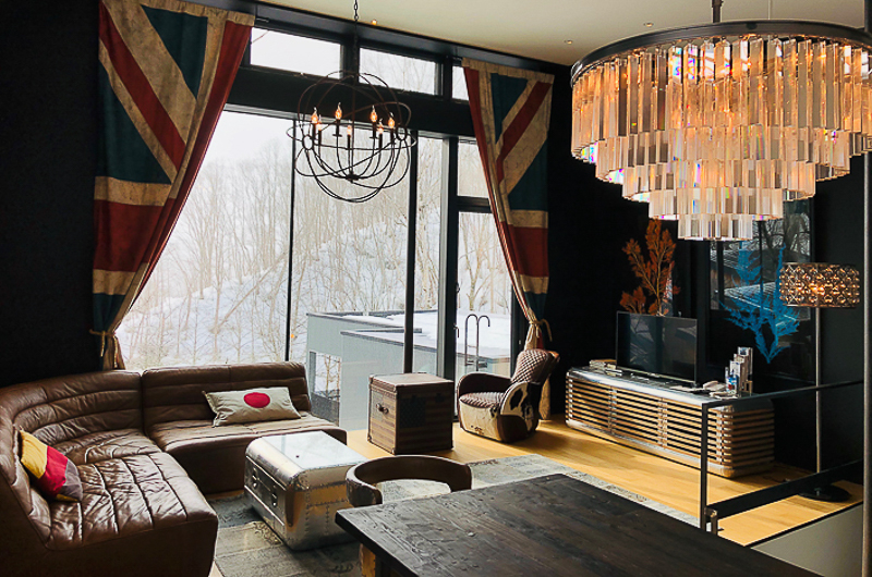 Millesime Living Area with TV and View | Lower Hirafu