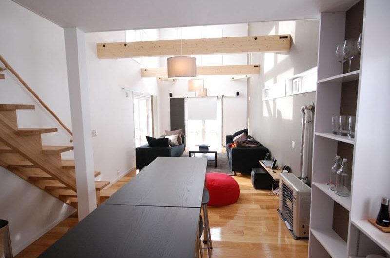 Peak Living and Dining Area near Up Stairs | Lower Hirafu