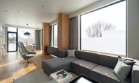 The Kamui Niseko Living Area with Wooden Floor | Annupuri
