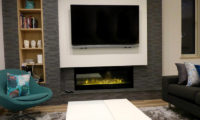The Owl House Living Area with TV and Fireplace   Lower Hirafu