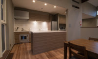 The Trees Chalets Kitchen and Dining Area with Wooden Floor | West Hirafu