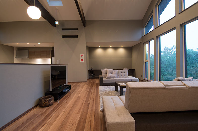 The Trees Chalets Living Area with TV | West Hirafu