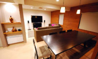 Cisco Moon Lodge Living and Dining Area with TV | Lower Hirafu
