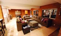 Cisco Moon Lodge Living Area at Night | Lower Hirafu