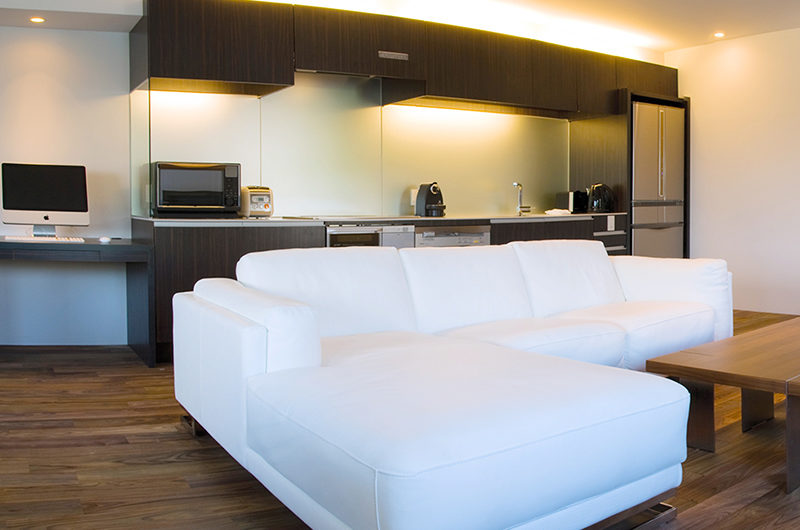 J-Sekka Suites Kitchen and Living Area | Middle Hirafu