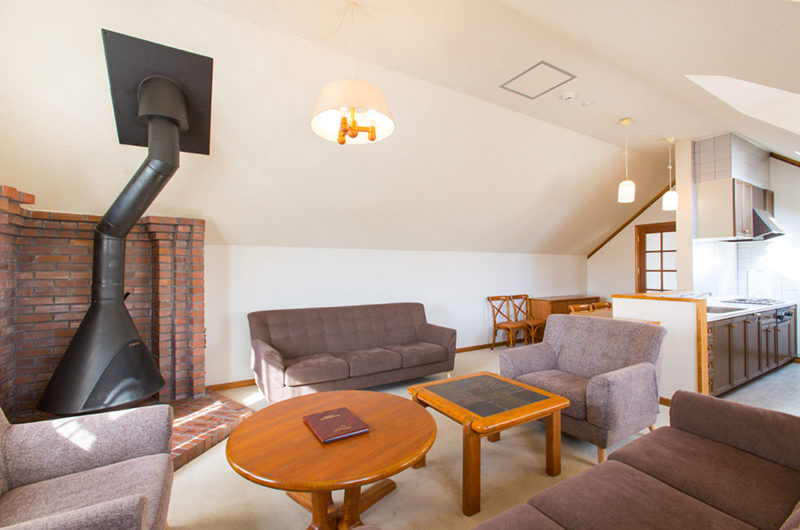 Heritage Living Area with Fireplace | East Hirafu