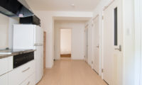 Sakura Apartments Kitchen with Wooden Floor | Lower Hirafu