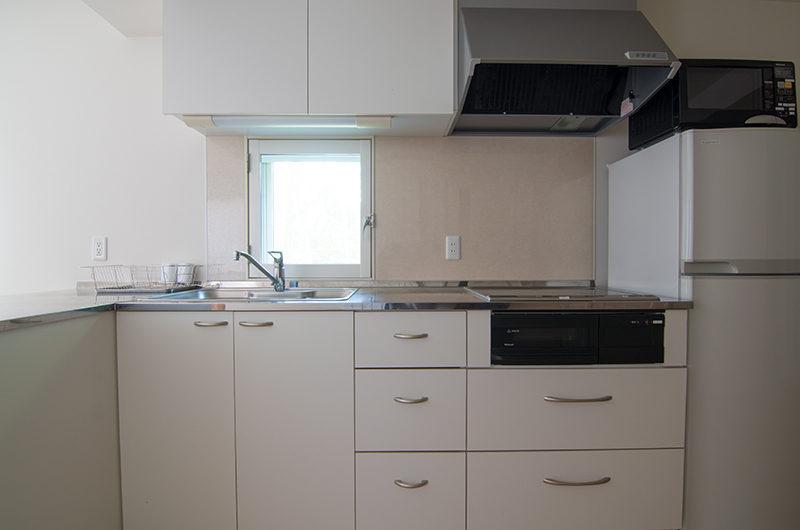 Sakura Apartments Kitchen with Utensils | Lower Hirafu