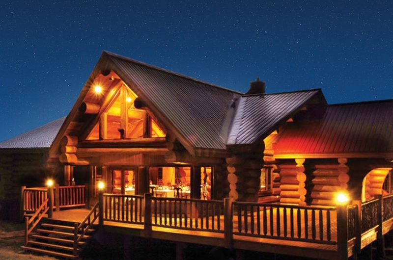 Villa Rusutsu Outdoor Area at Night | Rusutsu