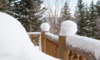 Villa Rusutsu Balcony with Snow | Rusutsu