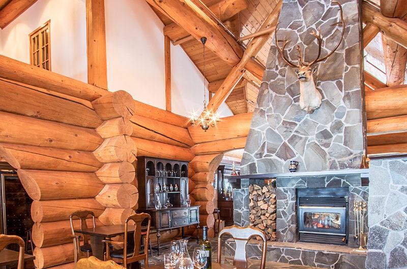 Villa Rusutsu Living Area with Fireplace | Rusutsu