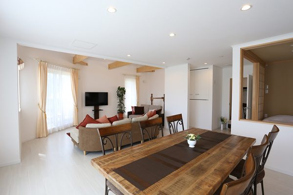Bliss Lodging Annex Second Floor Living and Dining Area | East Hirafu