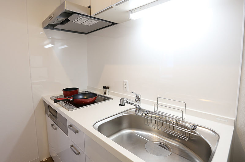 Bliss Lodging Twin Room Kitchen | East Hirafu