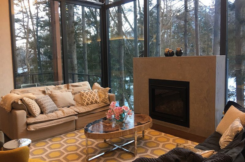 Amo 54 Lounge Area with Fireplace | Upper Wadano