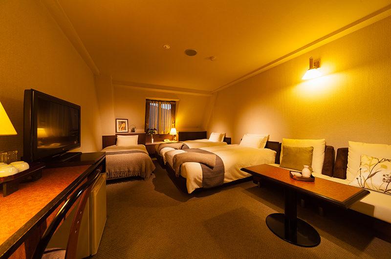 Hakuba Springs Hotel Deluxe Twin Plus Room with TV   Happo Village