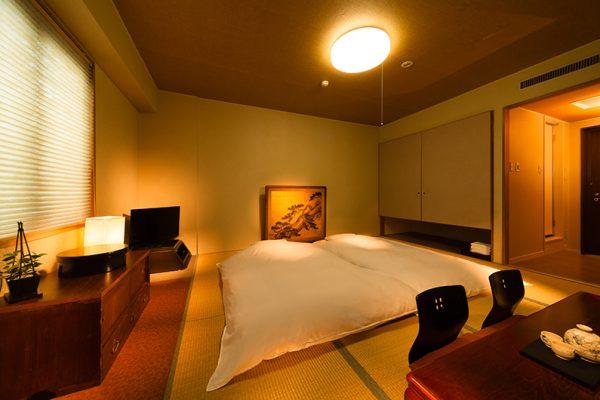 Hakuba Springs Hotel Japanese Tatami Futon Room with TV   Happo Village