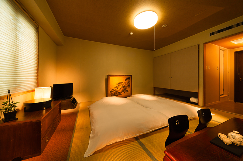 Hakuba Springs Hotel Japanese Tatami Futon Room with TV | Happo Village