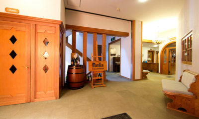 Marillen Hotel Entrance with Sofa | Happo Village