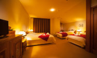 Marillen Hotel Bedroom with Triple Beds | Happo Village