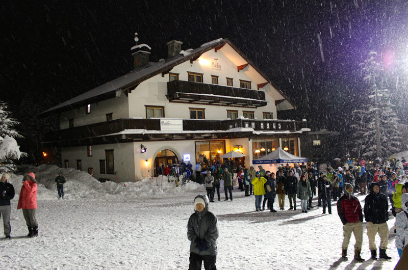 Marillen Hotel Night View with Snow Fall | Happo Village