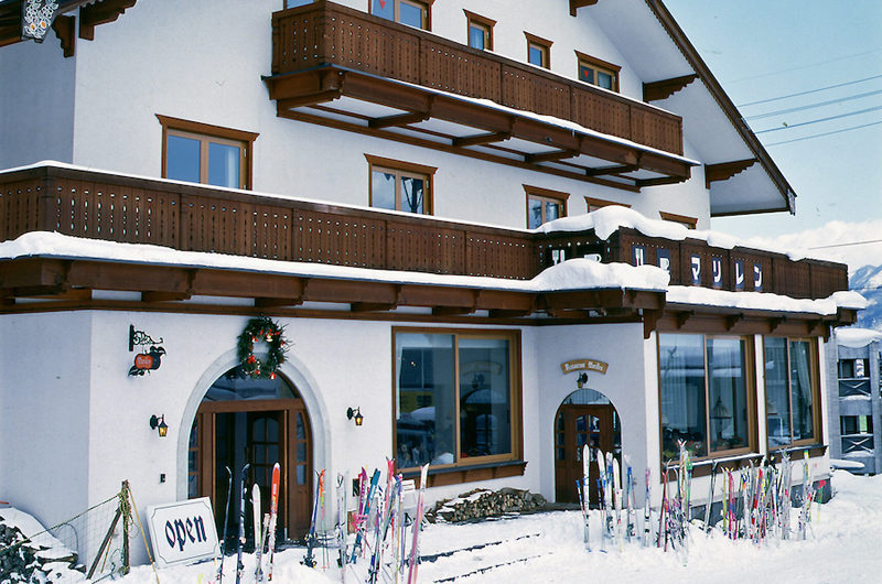 Marillen Hotel Entrance with Snow | Happo Village