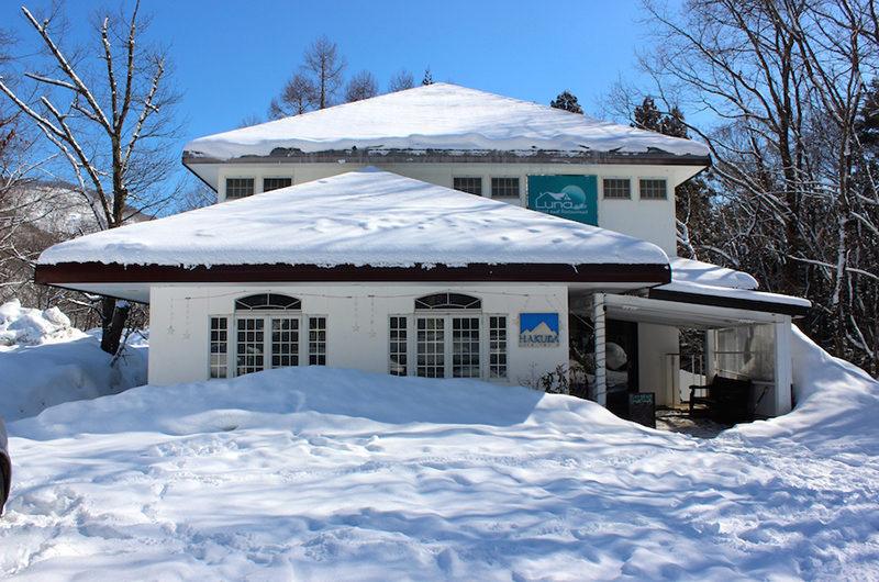 Luna Hotel Outdoor View with Snow | Upper Wadano