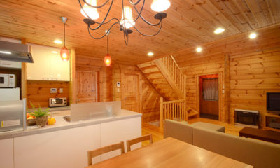Maki Cottage Up Stairs Kitchen and Dining Area | Lower Wadano