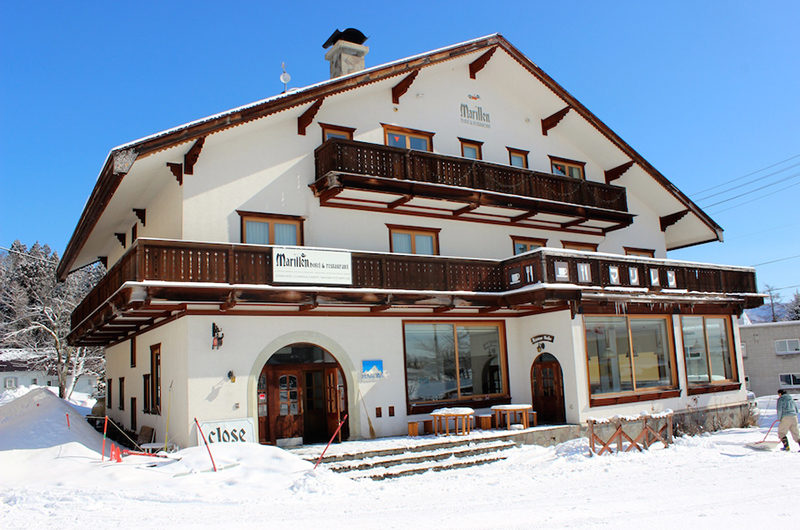 Marillen Hotel Outdoor View with Snow | Happo Village