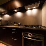 Phoenix Chalets Kitchen at Night   Lower Wadano