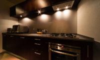 Phoenix Chalets Kitchen at Night | Lower Wadano