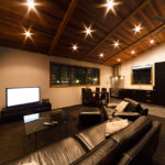 Phoenix Chalets Living Area with TV   Lower Wadano