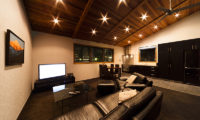 Phoenix Chalets Living Area with TV | Lower Wadano