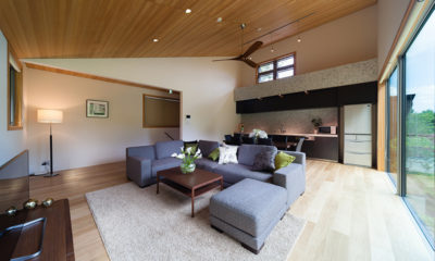 Solar Chalets Indoor Living Area | Upper Wadano
